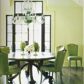 Light and bright dining room design inspiration for Lime green dining room ideas