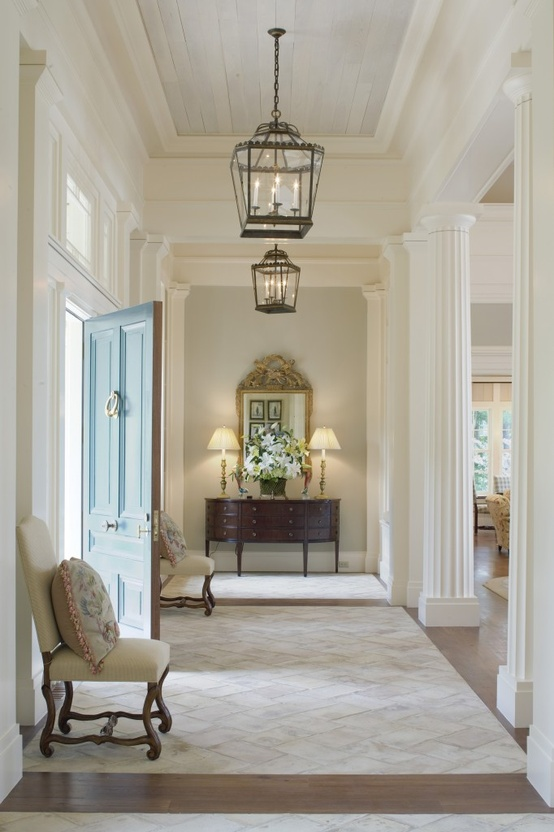 Interior design inspiration for your entry way - Lighting ideas for halls and foyers ...