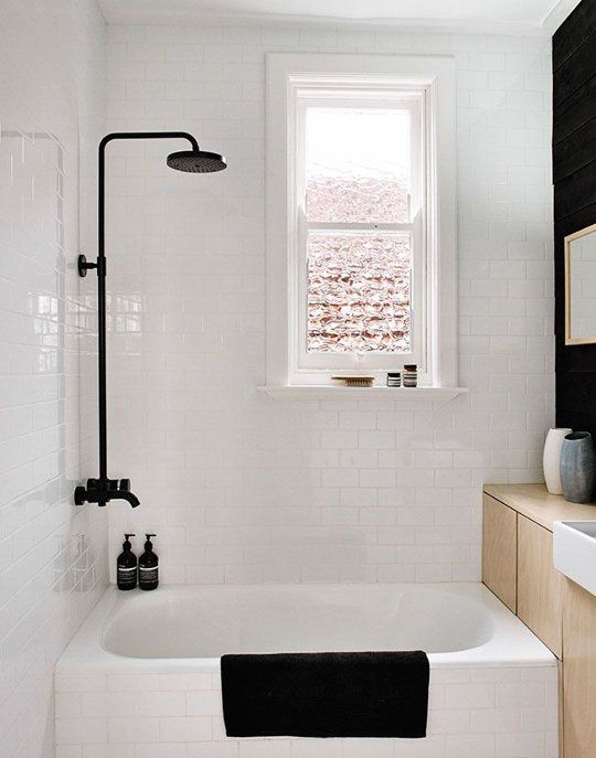 Small Bathroom Shower Black