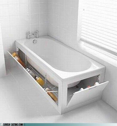 bathtub storage idea