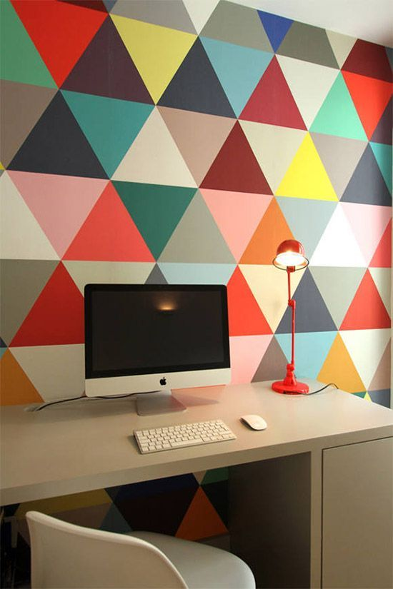 colorful home office design