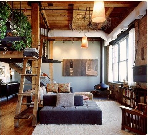 Home design inspiration for your loft style living room Loft living room ideas