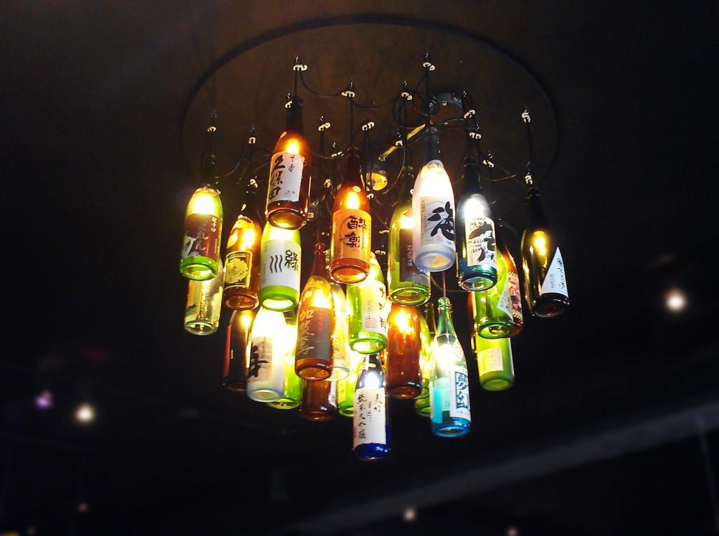 repurposed sake bottles