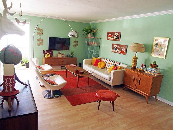 midmod living room design