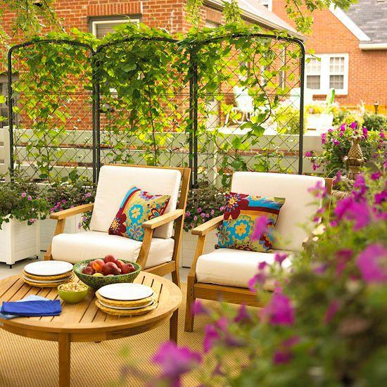 colorful outdoor patio design