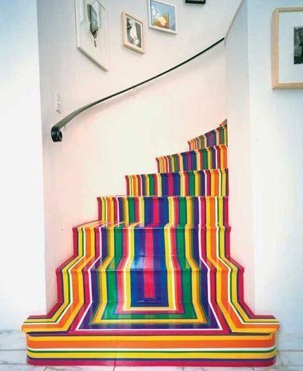 rainbow staircase design