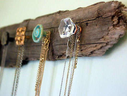 storage idea using wood beams