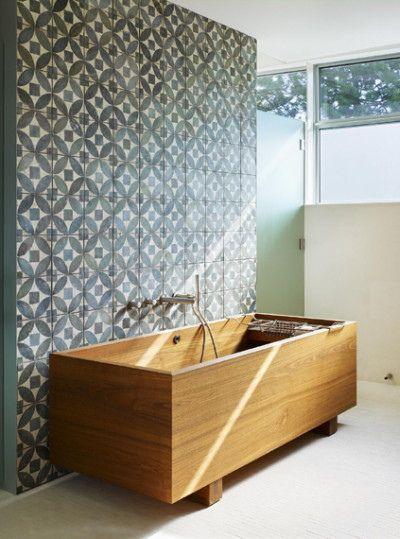 wooden bathtub design inspiration