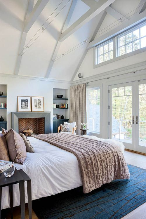 Bedroom with Vaulted Ceilings and Juliet Balcony