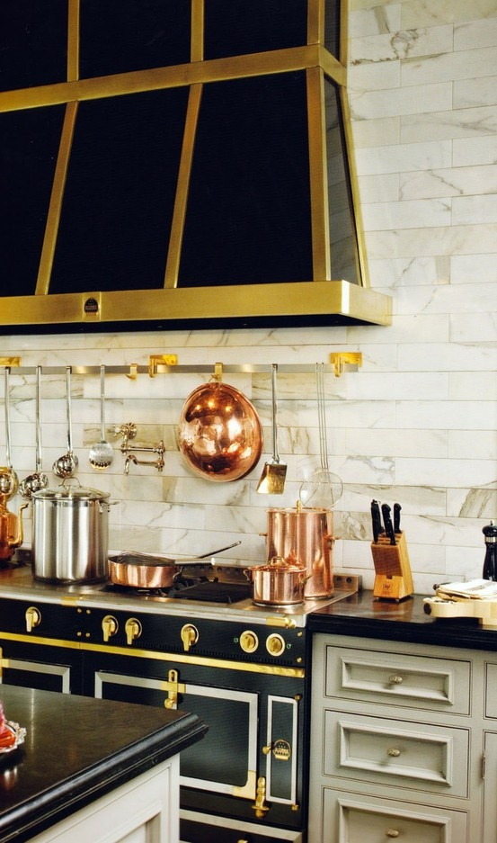 Black & Gold Inspired Kitchen Design