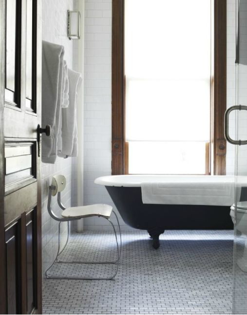 Clawfoot Bathtub and Bathroom Tile