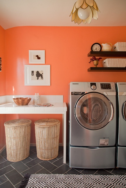 Colorful Laundry Room Design Inspiration