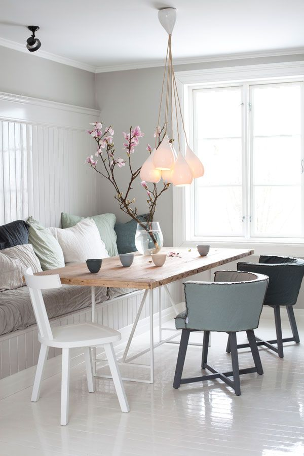 cozy dining room design featuring booth seating