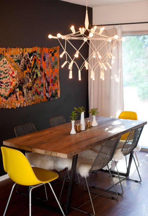 Dining Room Design with Modern Faux Candle Lighting