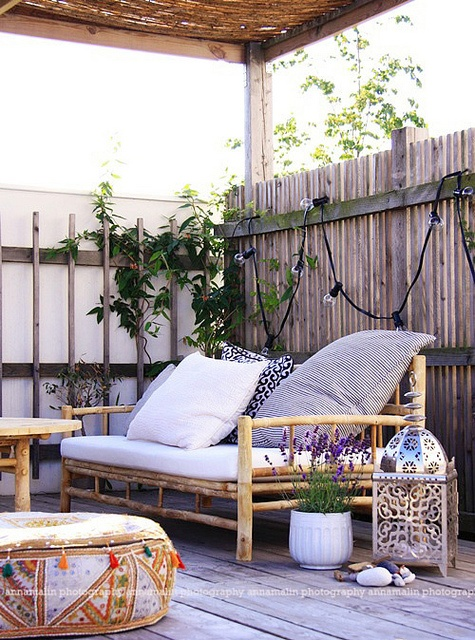 Eclectic Outdoor Patio Design