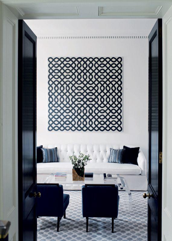 Geometric Black&White Living Room Design Inspiration