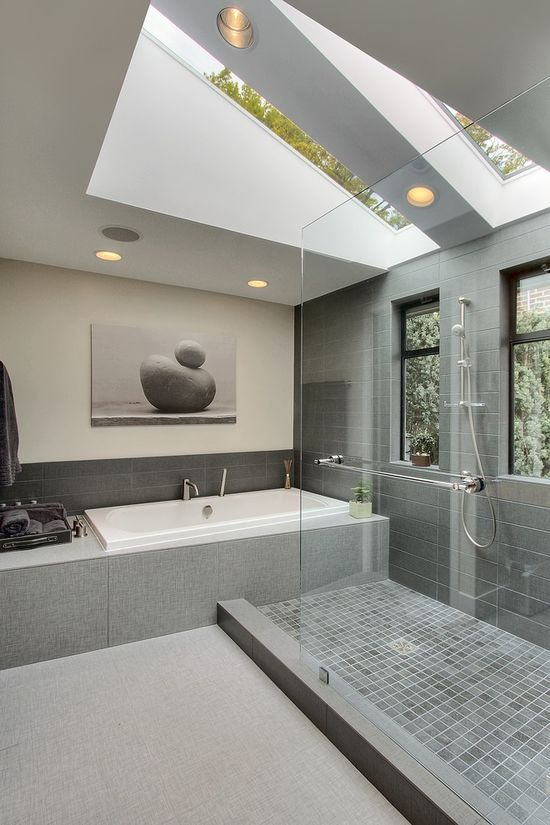 Grey Modern Bathroom Design Inspiration