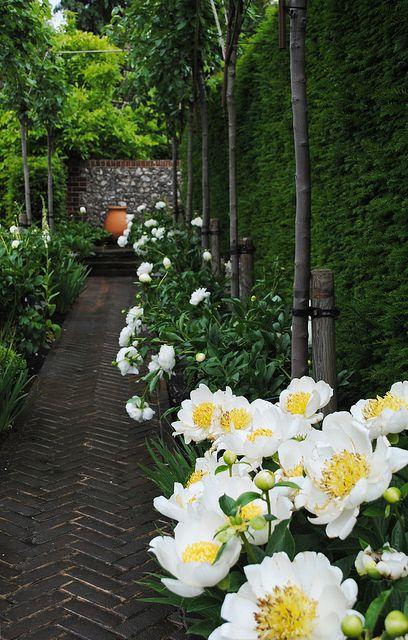 Herringbone Garden Walkway
