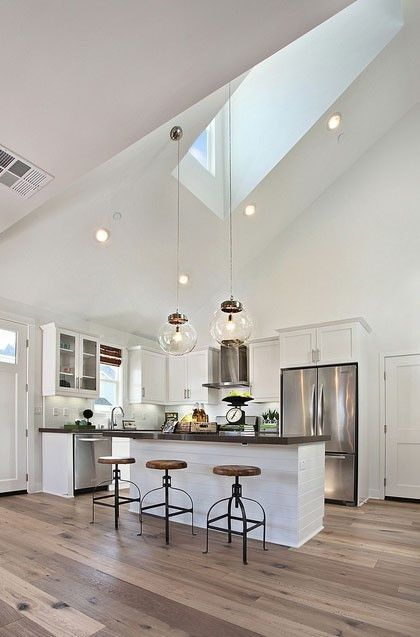 Contemporary Kitchen Design with Bold Skylight