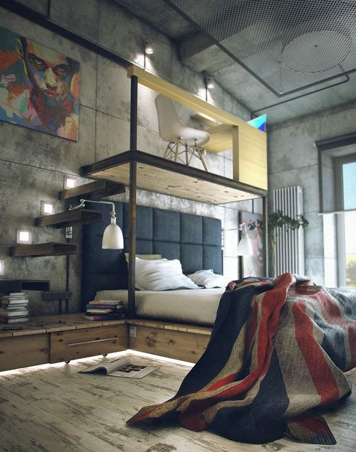 Loft bedroom design inspiration