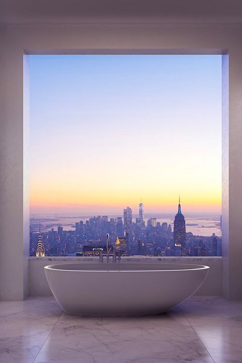 Minimalist Bathroom with a Stunning View