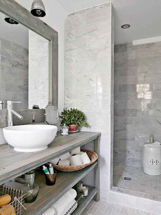 Modern country bathroom design inspiration homedesignboard - Salle de bain faience grise ...