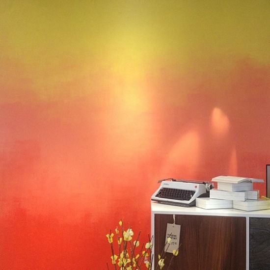 Ombre Wall Design