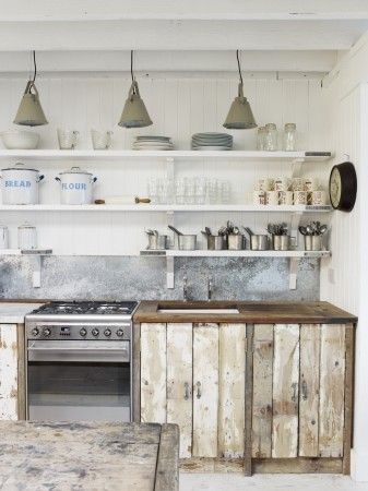 Rustic Kitchen with Wood Cabinets