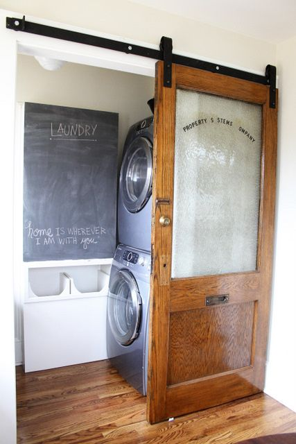 Tasteful Small Laundry Room Design Idea