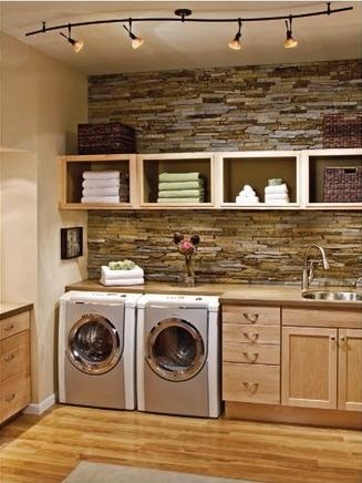 Tidy Modern Laundry Room