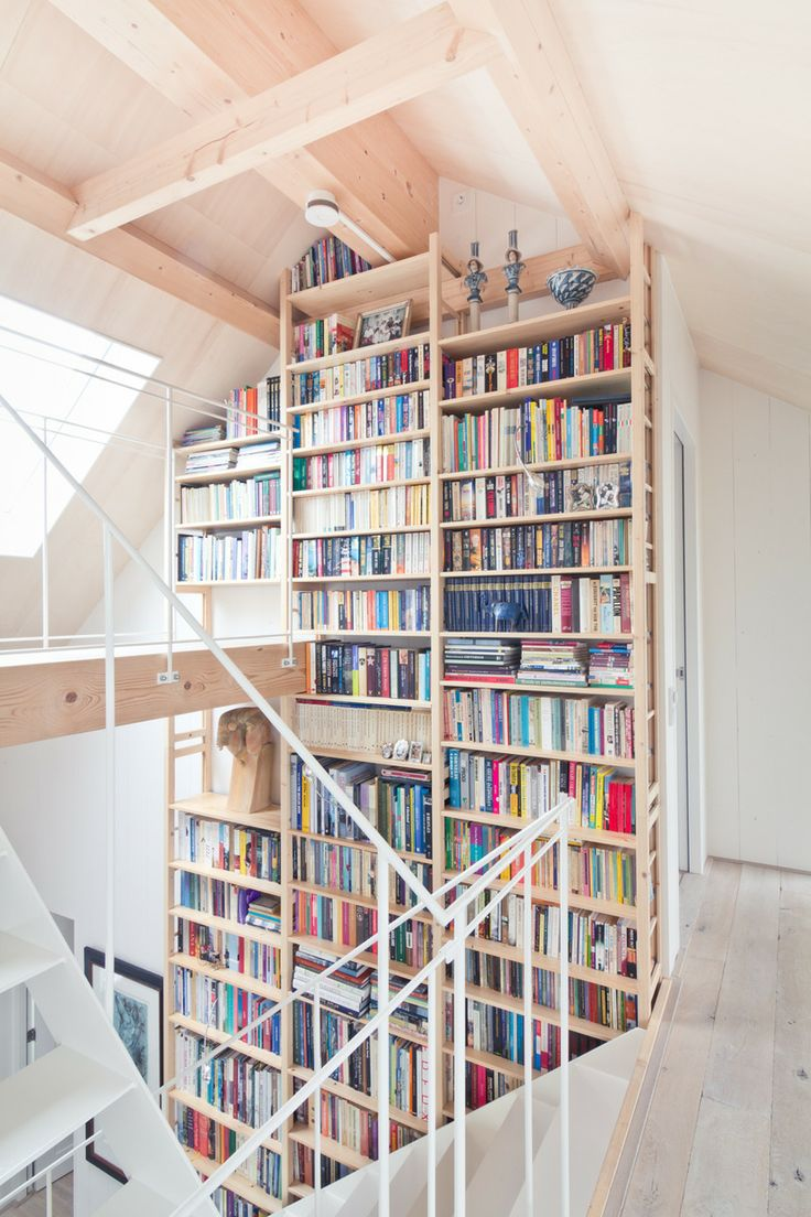 Two-Story Home Library Inspiration