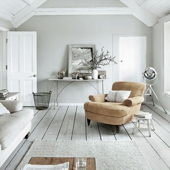 Upstairs Living Room with Pale Wood Floor