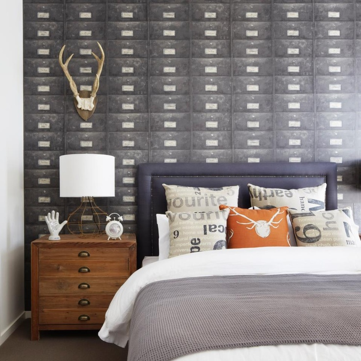 Vintage Inspired Bedroom Design with a Pop of Color