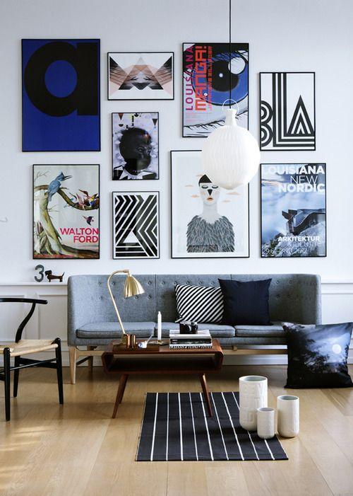 Wall Art Inspired Living Room Design