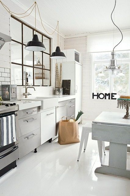 White and Grey Contemporary Kitchen Design