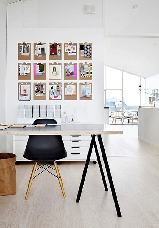 Studio Design with Clipboard Wall