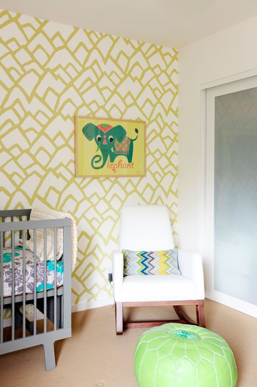 bright nursery room design