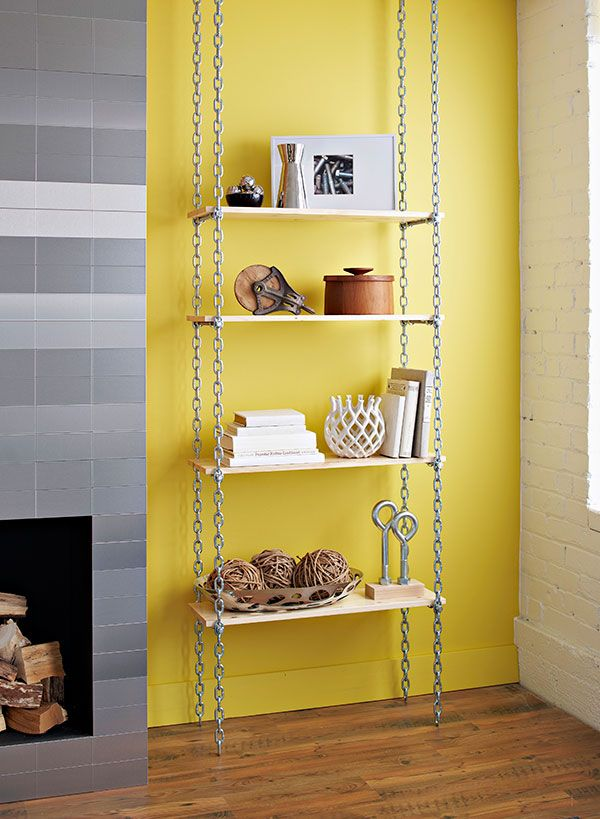 creative industrial bookshelf