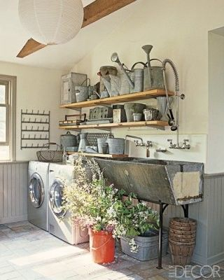 laundry and gardening room