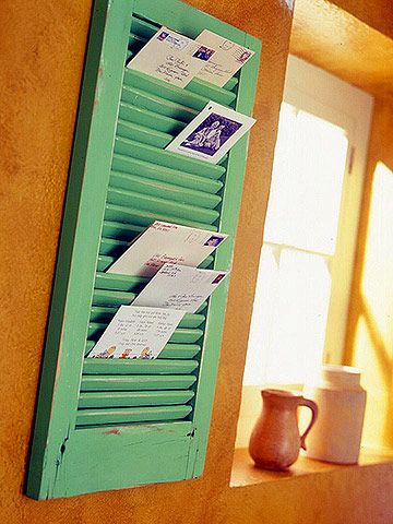 repurposed window shutter