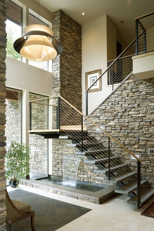 Home with Indoor Waterfall