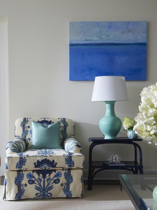 Blue And White Decor blue and white living room decor | homedesignboard