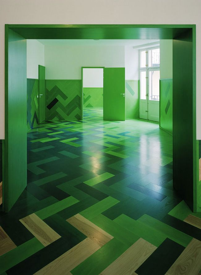 Bold Green Parquet Concept
