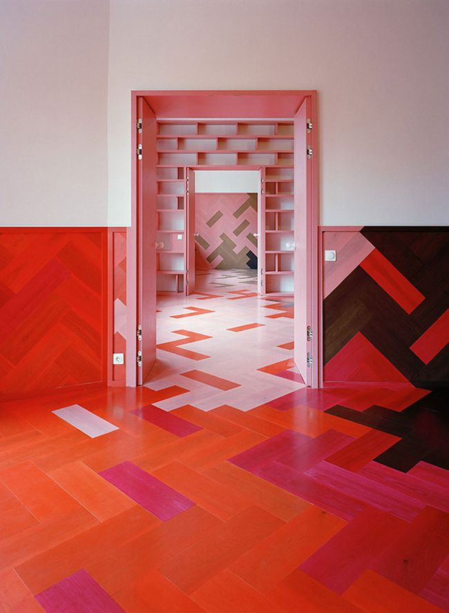 Bold Red Parquet Concept
