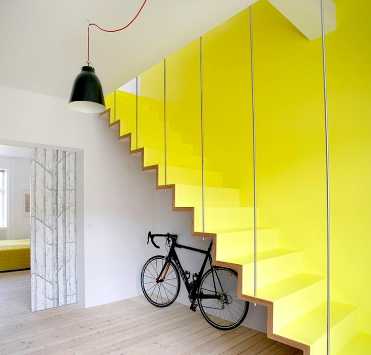 Bright Yellow Stair