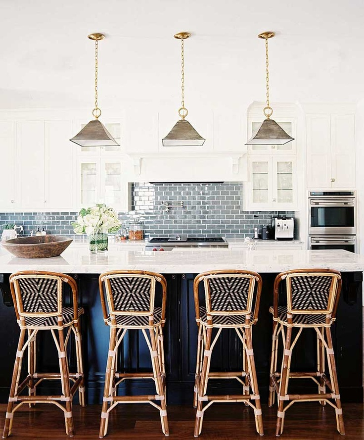 Contemporary Kitchen with Barstools