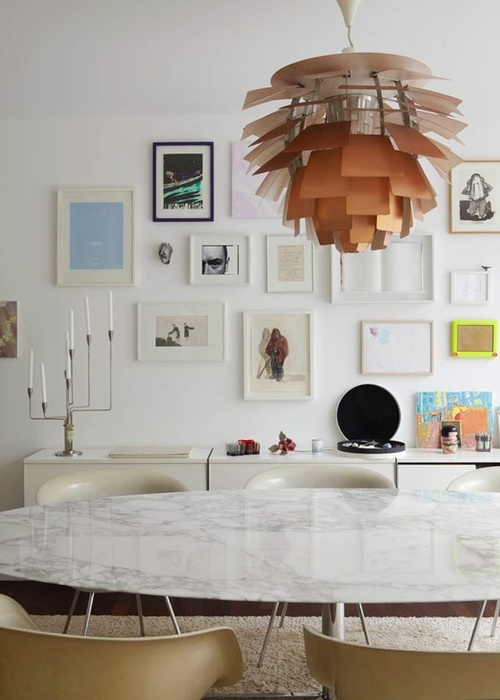 Dining Room With Art Wall