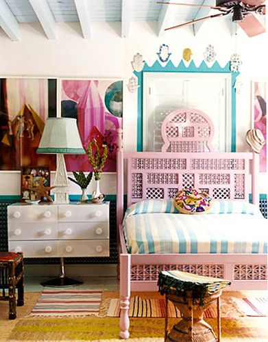 Eclectic Pink Bedframe