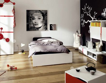 Edgy-Eclectic Bedroom