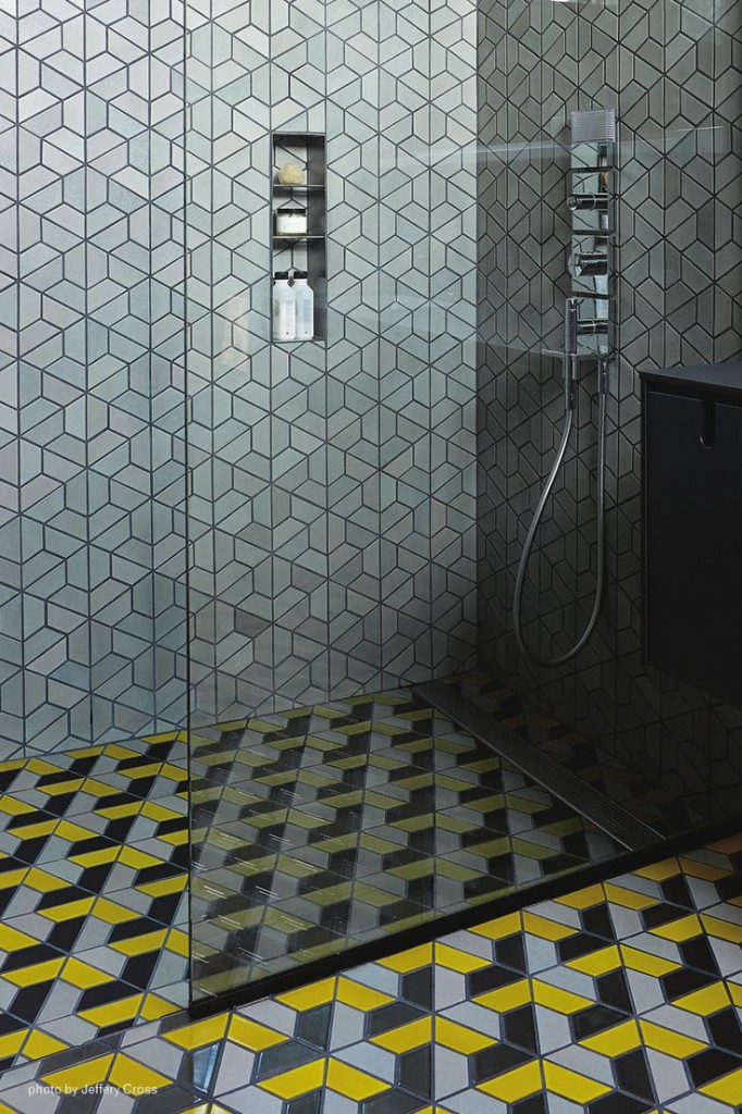 Geometric Shower Tile